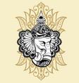 ornament beautiful card with god ganesha vector image