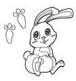 paw print with Rabbits Coloring Pages vector image