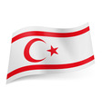 State flag of northern cyprus vector image
