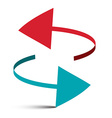 Two Arrows 3D Logo Symbol vector image