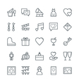 Wedding Cool Icons 2 vector image