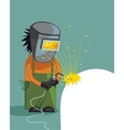 Cartoon of a welder vector image vector image