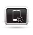 Phone icon with mail menu vector image vector image