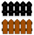 Picket fence vector image vector image