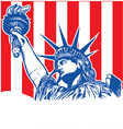 statue of liberty with torch vector image vector image