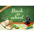 Welcome back to school Studying and teaching vector image vector image