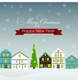 Abstract Christmas and New Year Background in vector image