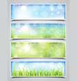 Spring Bokeh Banners vector image vector image