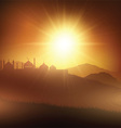 ramadan background with mosques at sunset 1005 vector image