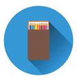 Pencil box icon vector image