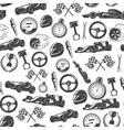 Racing Emblems Pattern vector image