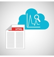 cloud code developing statistics search vector image