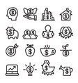investment icon set line icon vector image