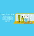 means of care tooth banner horizontal concept vector image