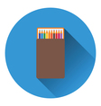Pencil box icon vector image