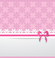 pink greeting card vector image