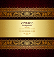 Royal vintage burgundy background vector image