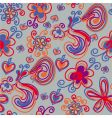 seamless pattern with bright flowers vector image