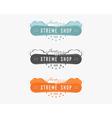 Set of Snowboarding extreme shop logo label vector image