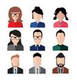 simple flat business people portrait set vector image
