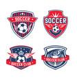 soccer team or football club heraldic icon vector image