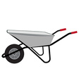 Wheelbarrow icon vector image