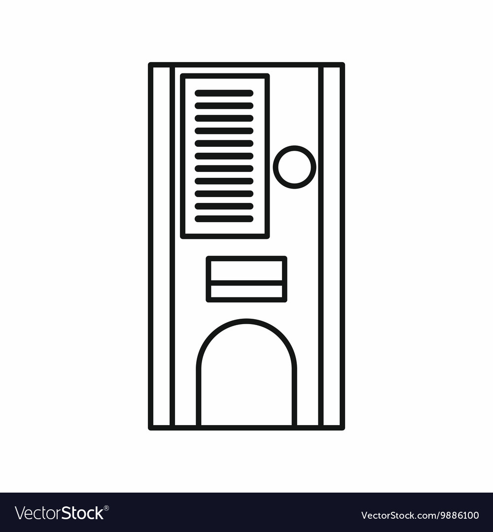 Coffee vending machine icon outline style vector