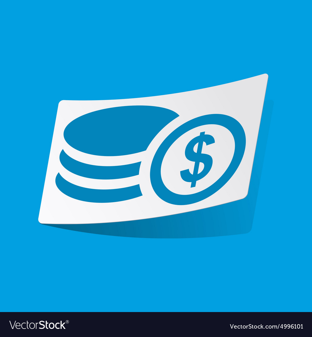 Dollar rouleau sticker vector