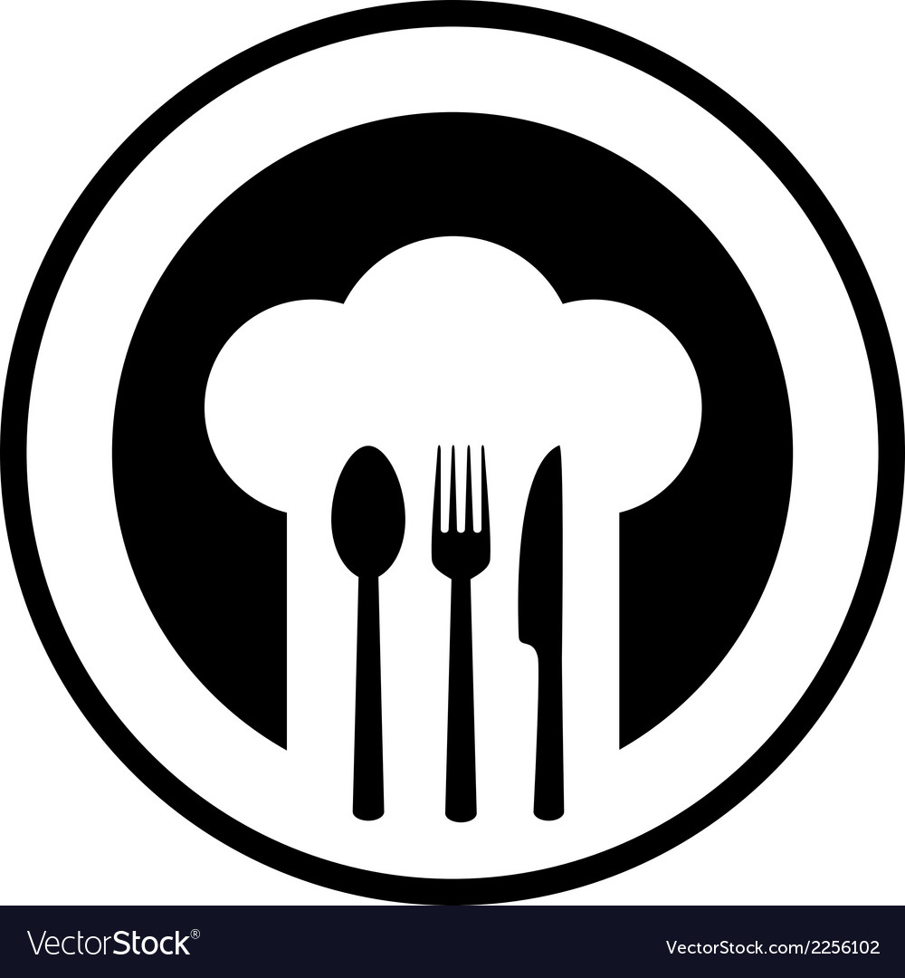 Black restaurant sign vector
