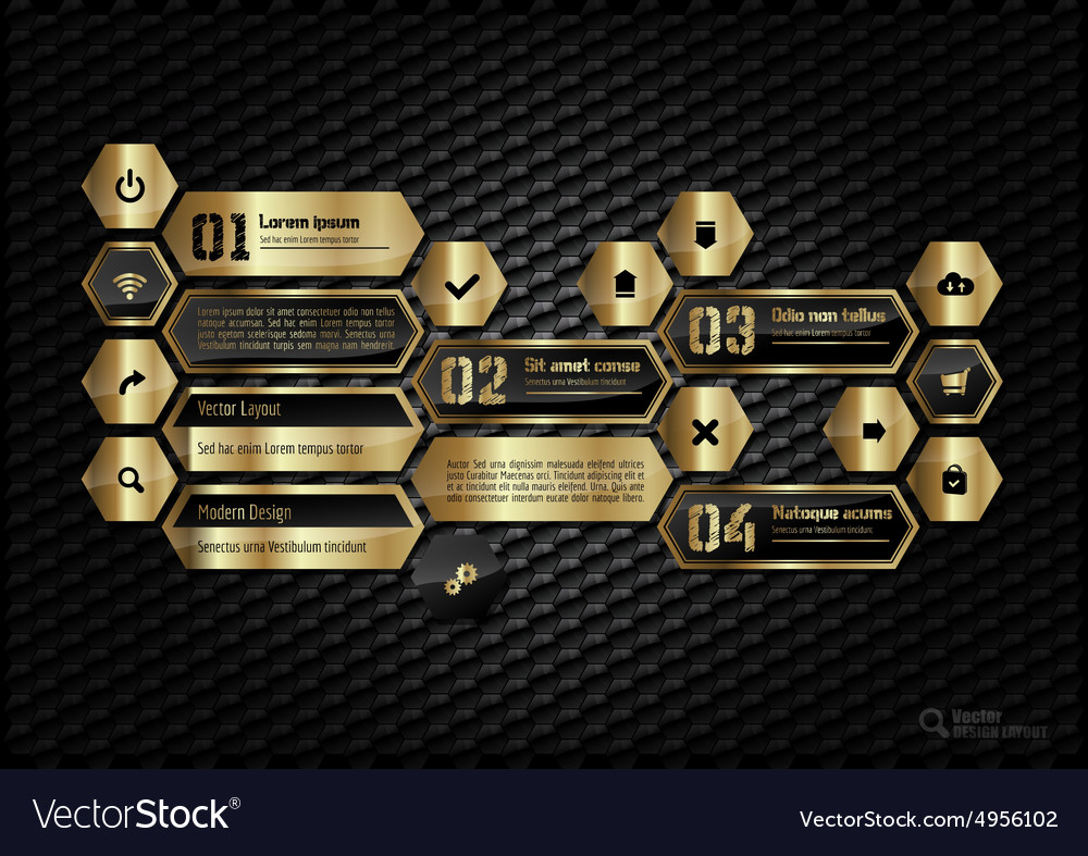 Gold layout vector