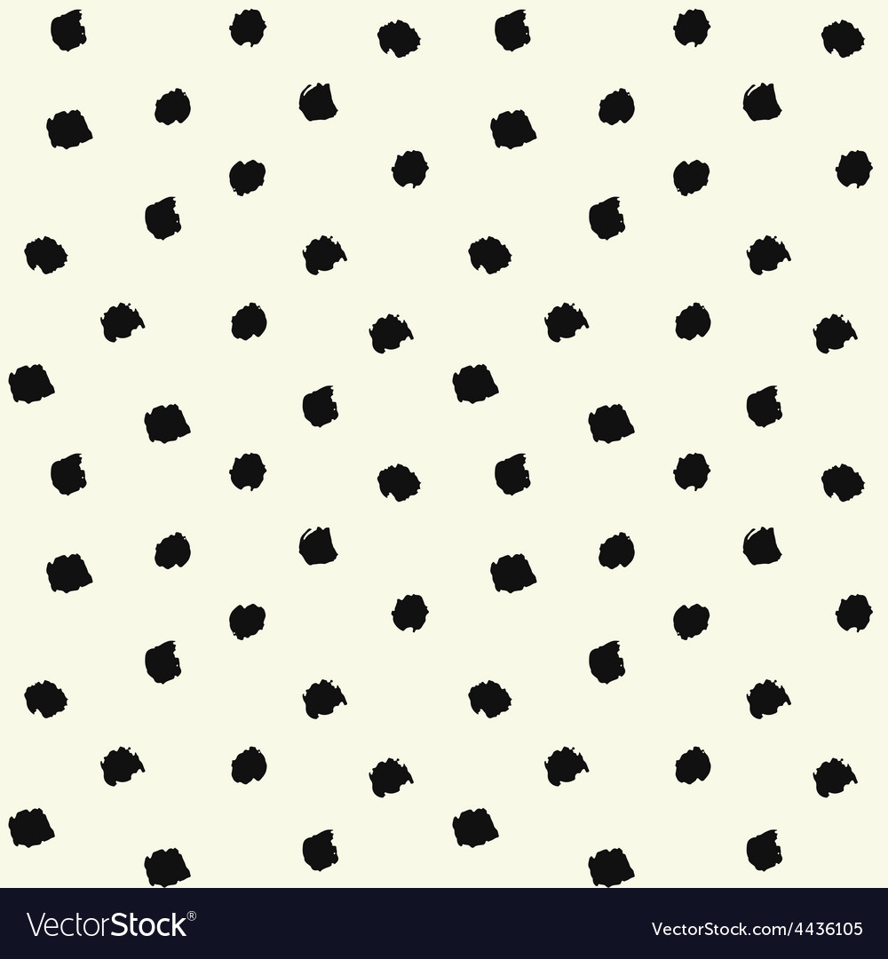 Painted polka dot vector