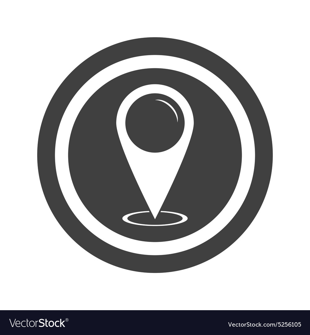 Round black area pointer sign vector