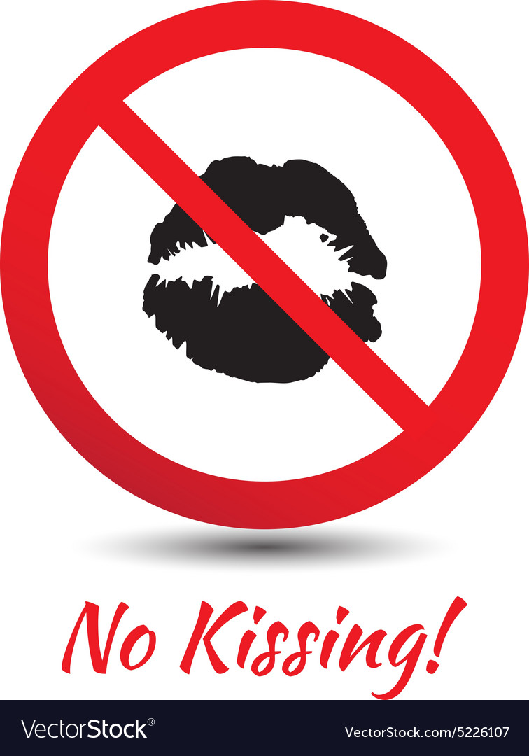 No kisses sign vector