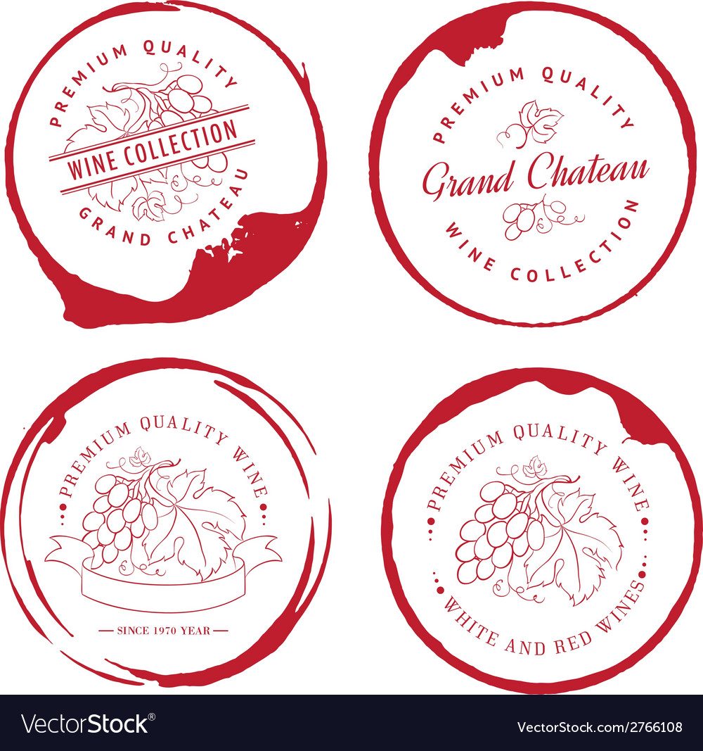 Design of logo for wine vector