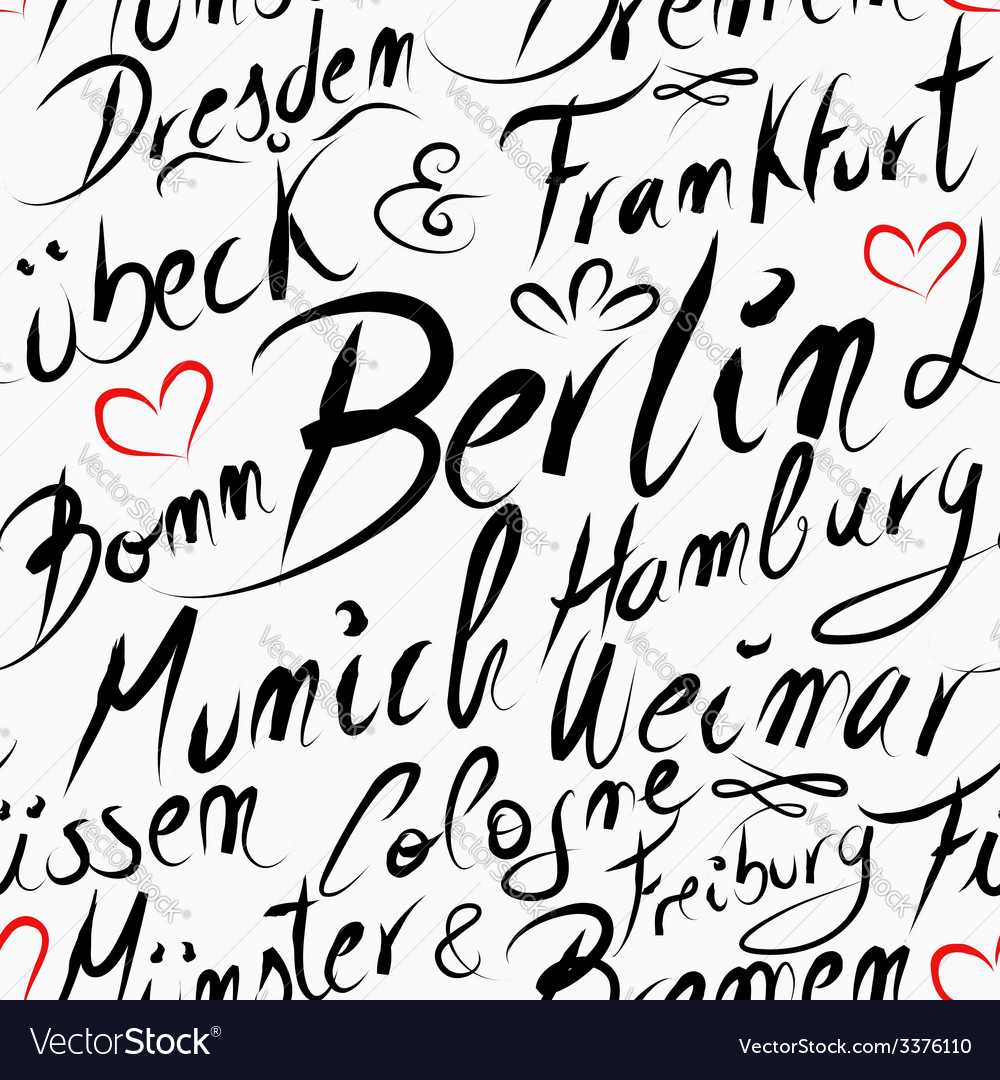 Travel germany destination city seamless pattern vector