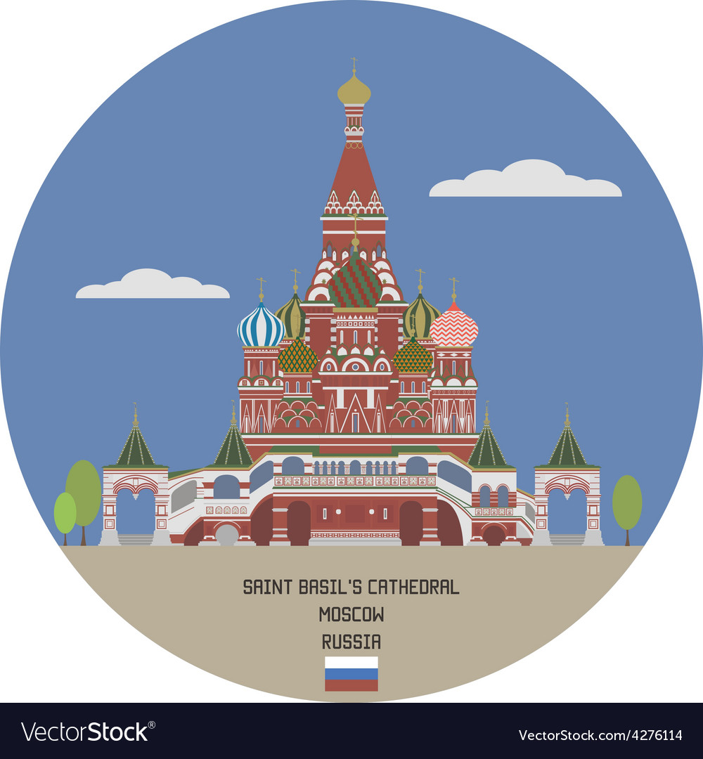Saint basils cathedral moscow vector