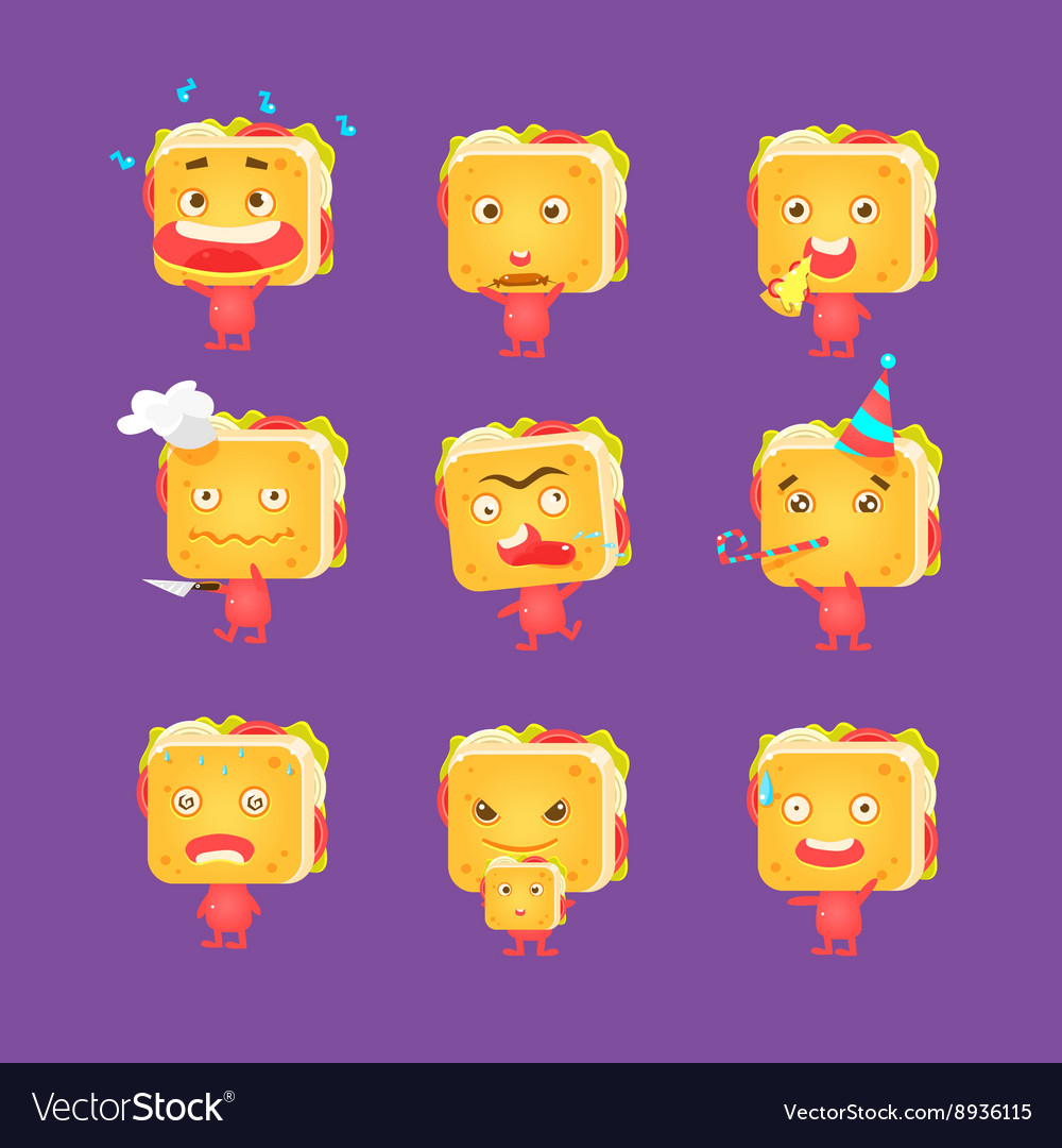 Sandwich character set vector