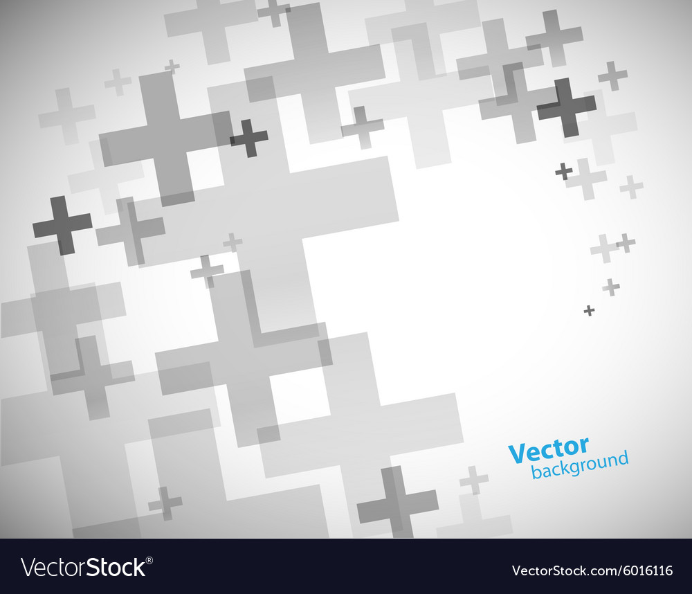 Abstract background created with plus sign vector