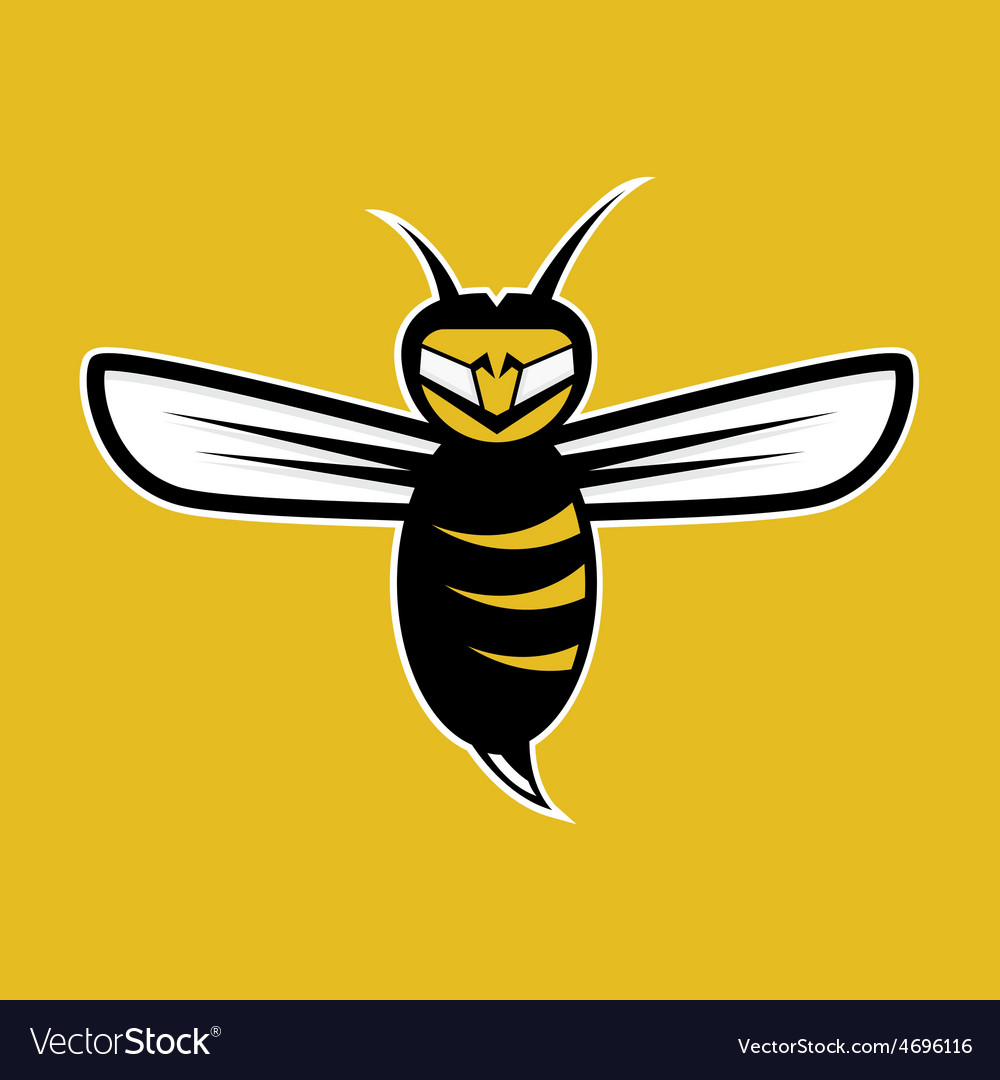 Agressive bee mascot vector