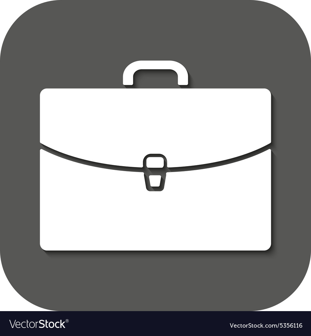 Briefcase icon portfolio symbol flat vector