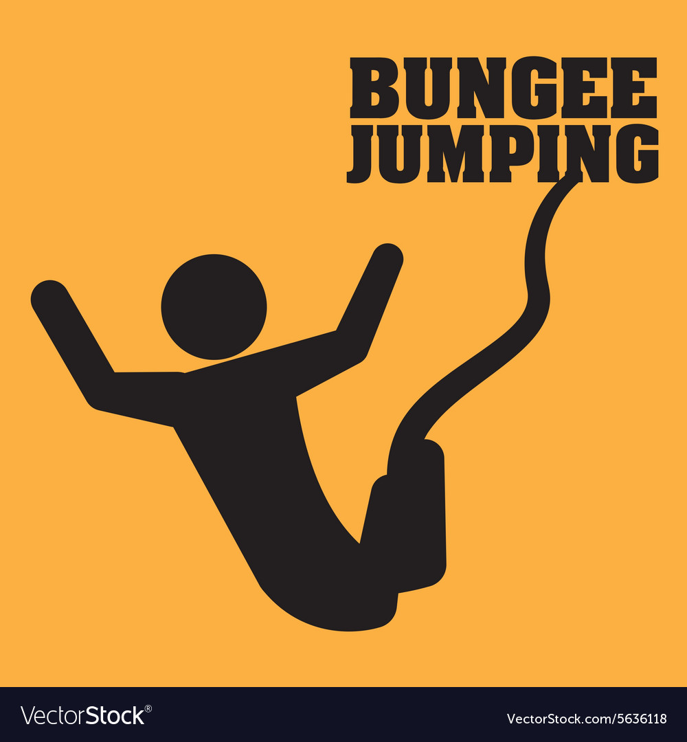 Jumping design vector