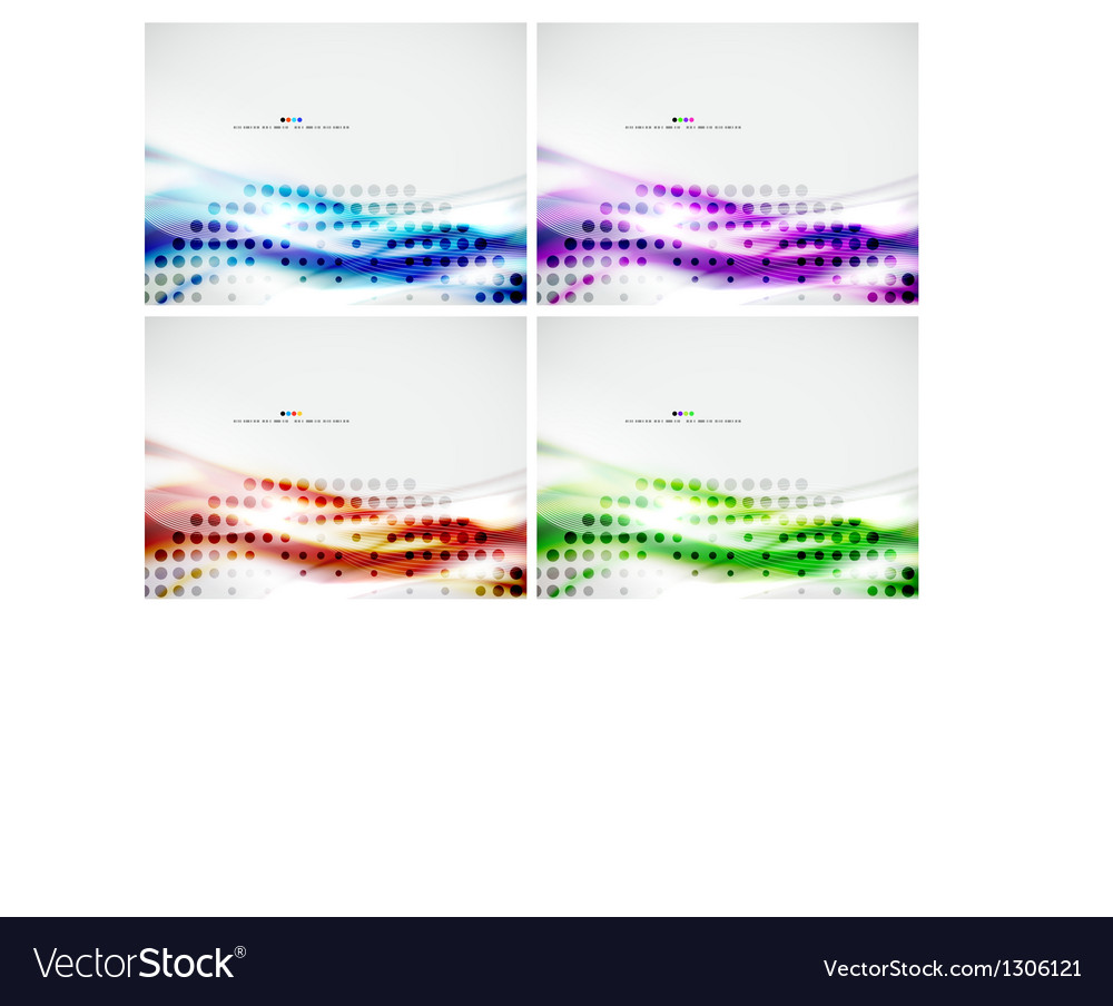 Set of abstract modern design templates vector