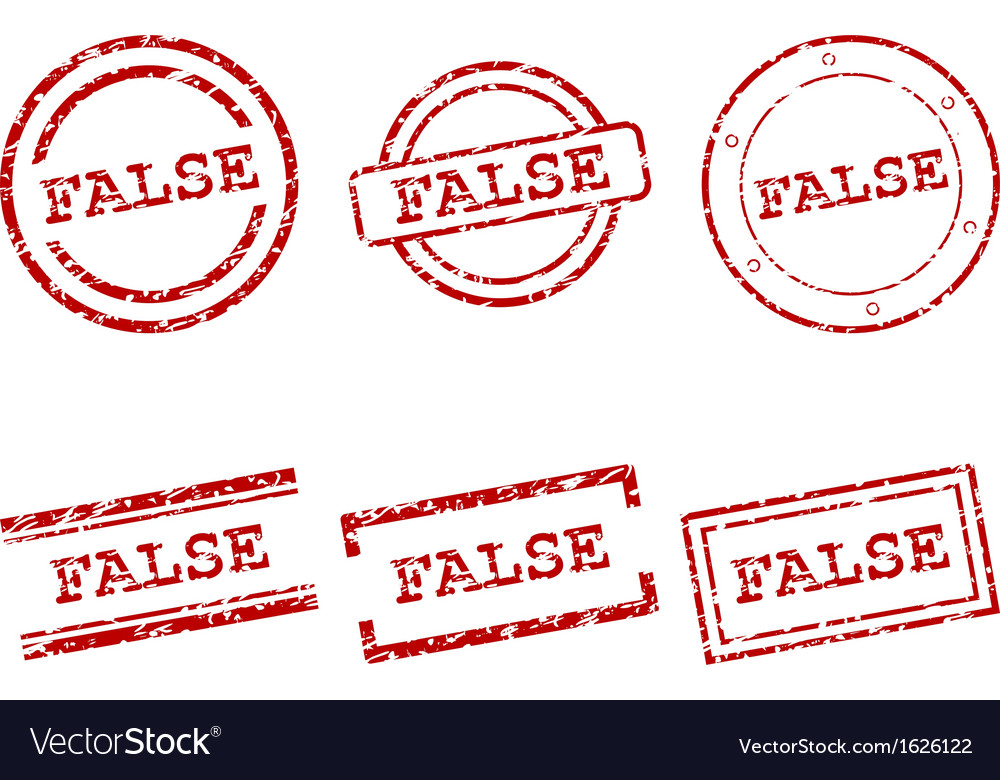 False stamps vector