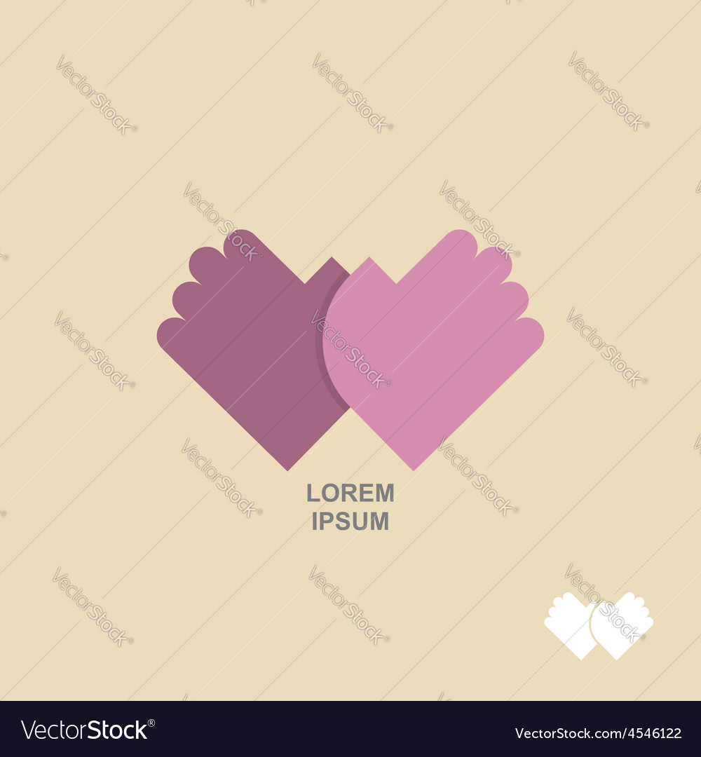 Logo hands together template for business concept vector