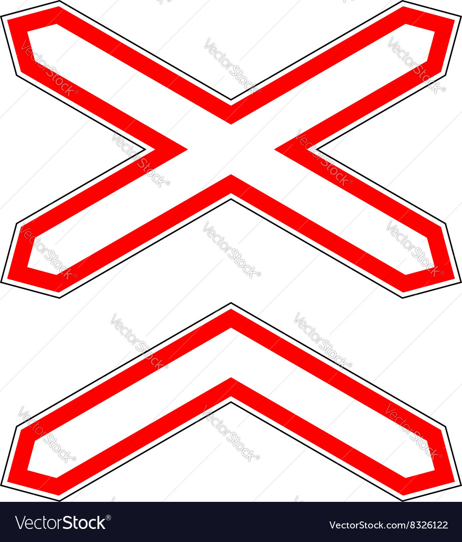 Trafficroad sign vector