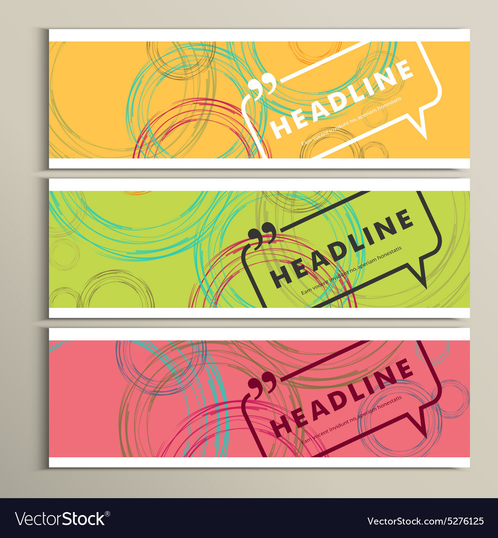Banner color line circle design eps vector