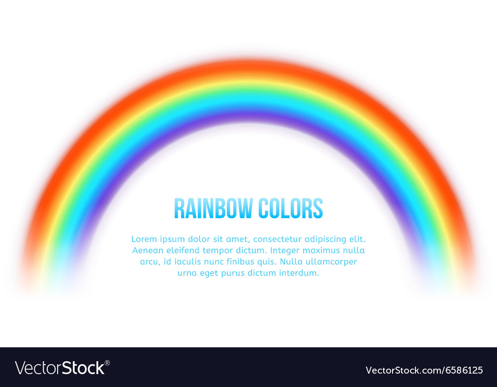 Rainbow on white background vector