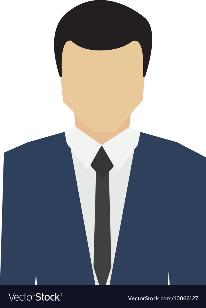 Businessman portrait icon vector