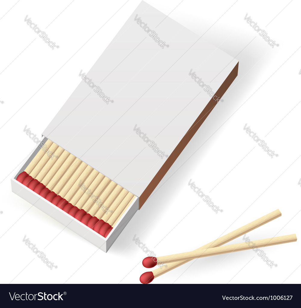 Realistic matchbox vector