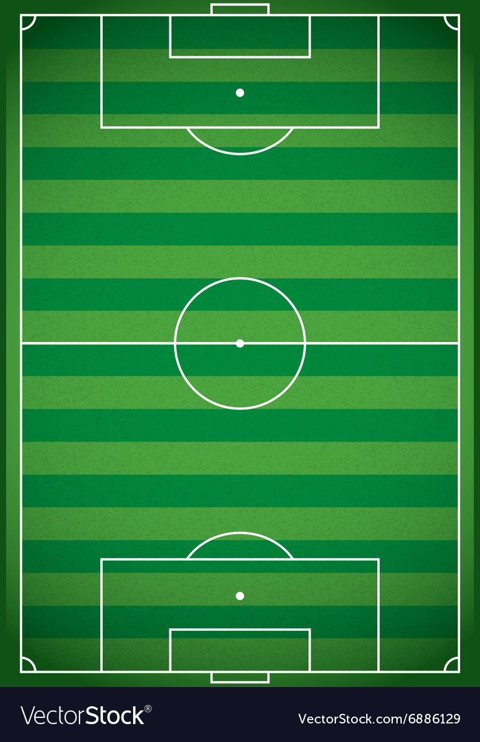 Football  soccer field aerial view vector